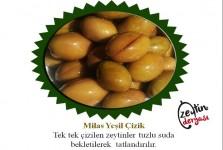 Milas Yeşil Çizik Zeytin 1 KG