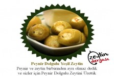 Peynir Dolgulu Yeşil Zeytin (1 Kg)